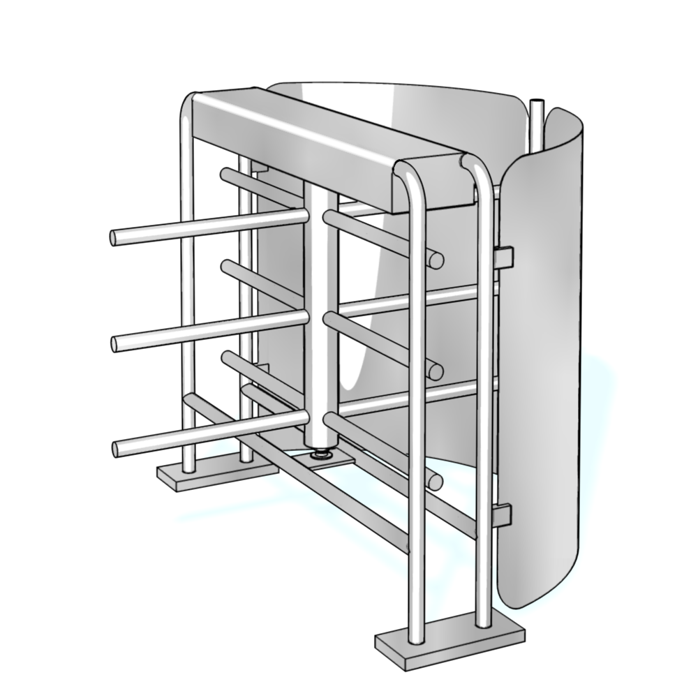 Halbhohe Drehkreuze Charon HTS-L01 von dormakaba: Vertrieb, Montage, Wartung RSD access systems