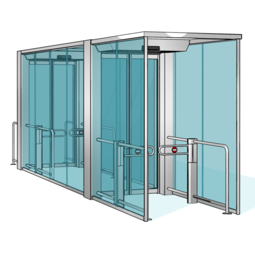 Personenschleuse Orthos PIL M02 lang von dormkaba: Vertrieb, Montage, Wartung RSD access systems